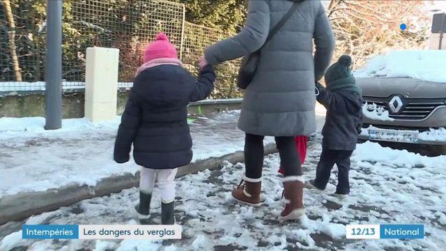 Ile-de-France : les piétons vigilants face au verglas
