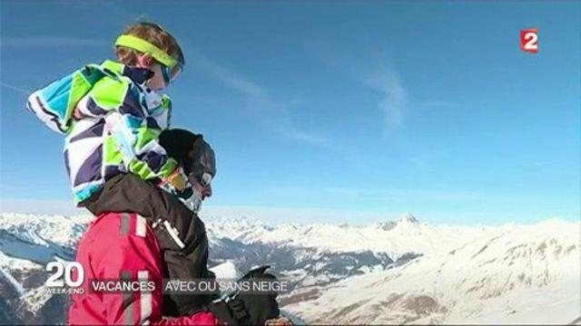 Montagne : les vacanciers profitent des stations, avec ou sans neige