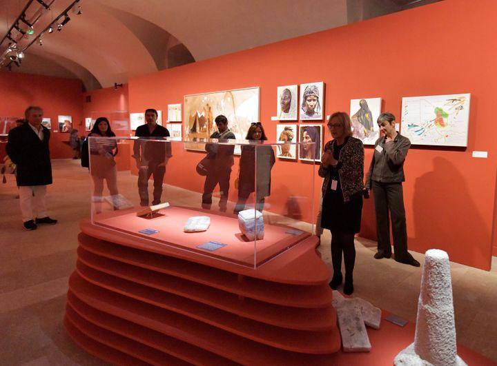 """Exposition """"Sahara Mondes Connectés"""" de Titouan Lamazou au Centre de la Vieille Charité, à Marseille (GEORGES ROBERT / MAXPPP)"""
