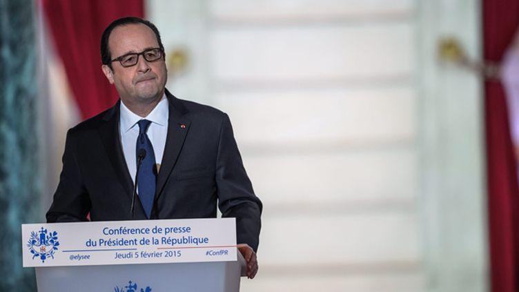 (Conférence de presse de François Hollande, le 5 fevrier 2015 © Maxppp)