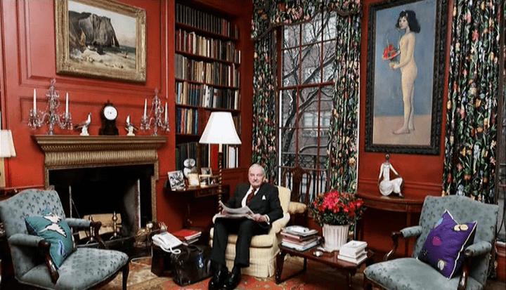 David Rockefeller chez lui  (France 2 / Culturebox / Capture d'écran)