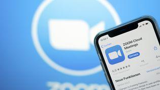 L'application Zoom sur un portable à Cologne en Allemagne, le 15 mai 2020. (MAXPP)
