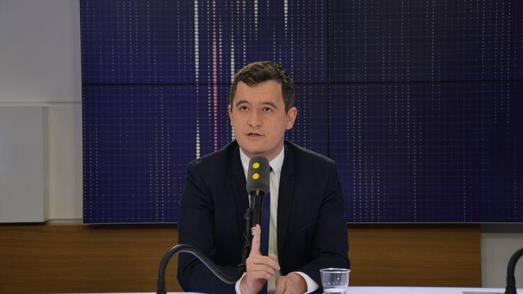Gérald Darmanin, ministre de l'Action publique et des comptes publics. (JEAN-CHRISTOPHE BOURDILLAT / RADIO FRANCE)