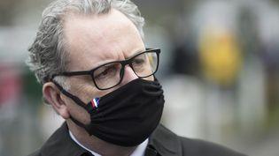 Le président de l'Assemblée nationale, Richard Ferrand, à Crozon(Finistère), le 20 novembre 2020. (SEBASTIEN SALOM-GOMIS / AFP)