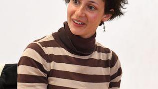 L'écrivaine Alice Zeniter préside cette année le festival Livres dans la Boucle à Besançon (ici à Perpignan le 12 avril 2019) (CLEMENTZ MICHEL / MAXPPP)