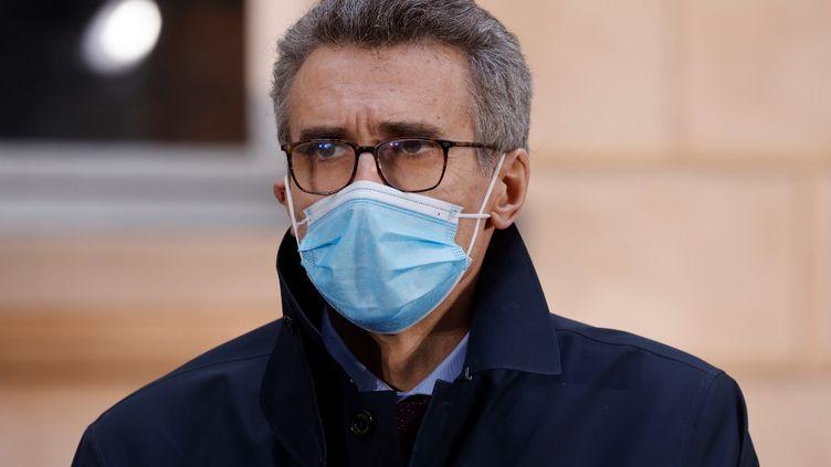 Le préfet d'Île-de-France Marc Guillaume au siège de l'AP-HP à Paris, le 15 octobre 2020. (LUDOVIC MARIN / AFP)