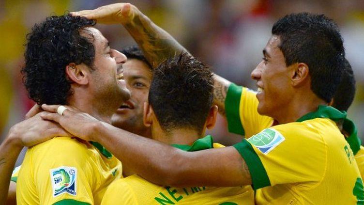 La joie des joueurs brésiliens