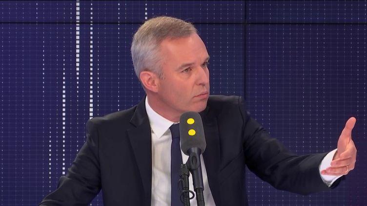 """François de Rugy, député de Loire-Atlantique, invité du """"8.30 franceifo"""", vendredi 6 septembre 2019. (FRANCEINFO / RADIOFRANCE)"""