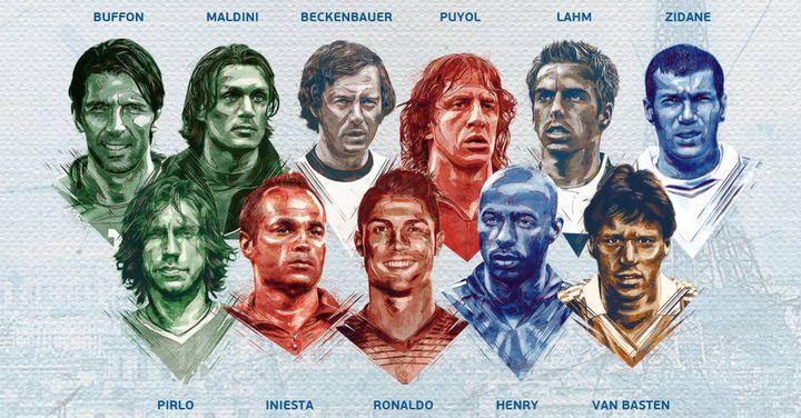 Le 11 type à l'Euro de tous les temps