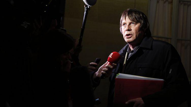 Bernard Thibault, secrétaire général de la CGT, le 22 novembre 2012 à Paris. (PIERRE VERDY / AFP)