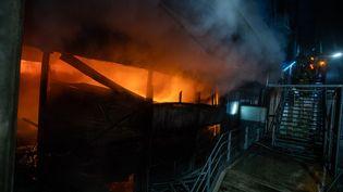 Au total ce sont plus de 130 pompiers qui ont été déployés sur cette intervention (MICKAËL LEFEVRE©BSPP)