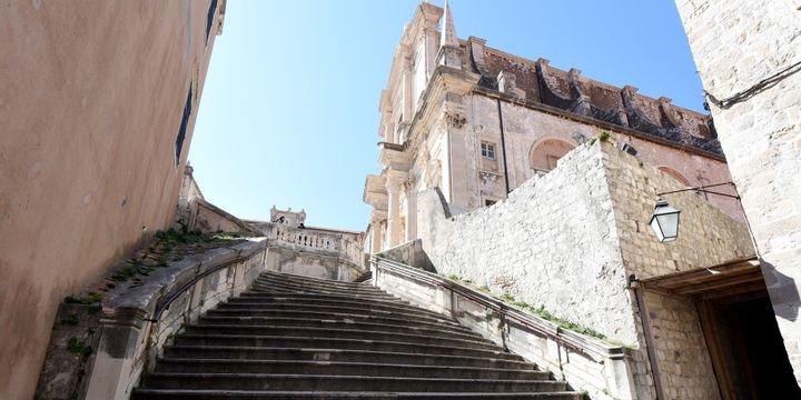 Dubrovnik en Croatie, et l'escalier des Jésuites  (Denis LOVROVIC / AFP)