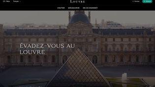 La page d'accueil du nouveau site internet du Louvre (© Musée du Louvre)