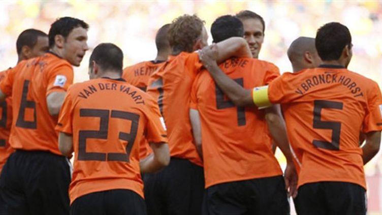 La joie des Néerlandais après leur victoire sur le Danemark