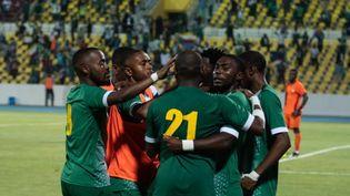 Les joueurs des Comores fêtent un but face au Kenya, en novembre 2020 (TDR)