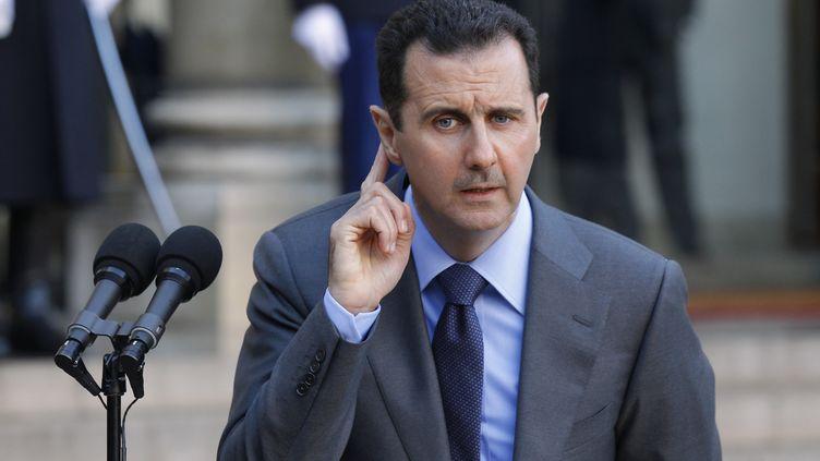 Le président syrien Bachar Al-Assad à Paris, le 9 décembre 2010. (BENOIT TESSIER / REUTERS / X02011)