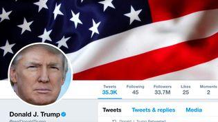 Le compte Twitter personnel du président des Etats-Unis Donald Trump, sur une capture d'écran prise le 11 juillet 2017. (REUTERS)
