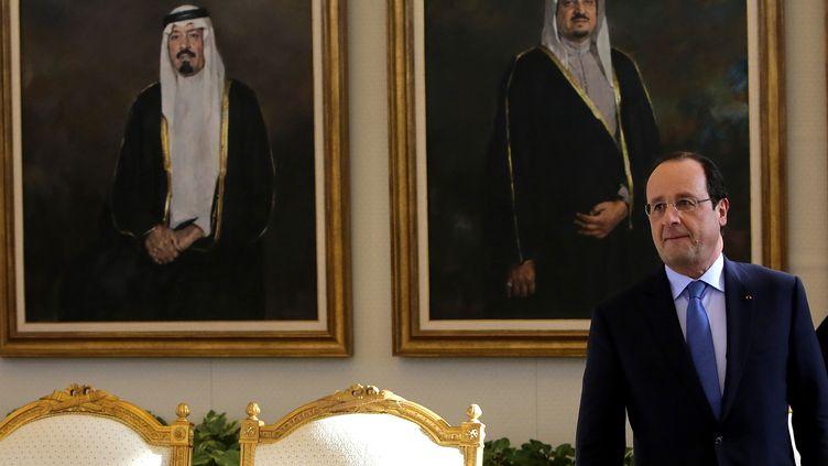 Le président François Hollande, le 29 décembre 2013 à Ryad (Arabie saoudite). (SPA / AFP)