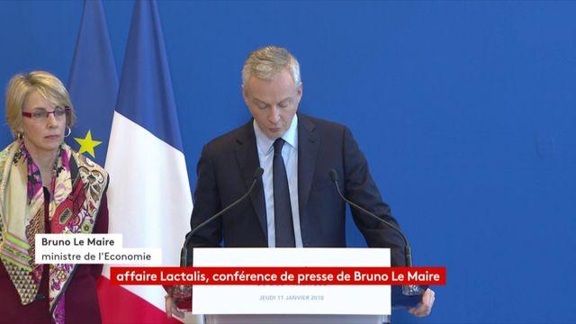 """Le Maire accuse Lactalis d'être une """"entreprise défaillante"""""""
