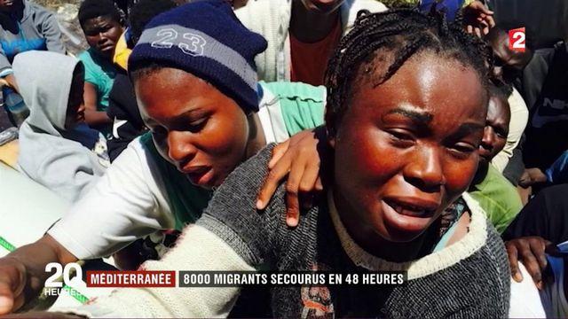 Méditerranée: 8 000 migrants secourus en 48 heures