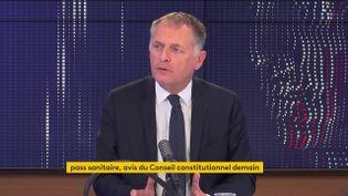 Philippe Juvin,maire LR de la Garenne-Colombes et chef de service des Urgences de l'hôpital européen Georges-Pompidou, était l'invité de franceinfo le mercredi 4 août 2021. (FRANCEINFO / RADIOFRANCE)