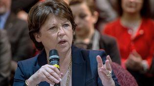 Martine Aubry, le 9 mars 2015 à Lille (Nord). (PHILIPPE HUGUEN  / AFP)