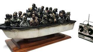 L'oeuvre de Banksy en résine et fibre de verre mise en jeu en faveur de l'aide aux migrants.  (Banksy /ww.choose.love)