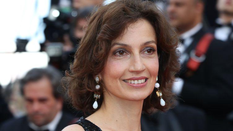 La ministre de la Culture, Audrey Azoulay, ouvre la cérémonie du 69e festival de Cannes le 11 mai 2016. (VALERY HACHE / AFP)
