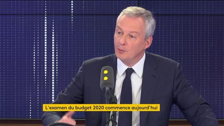 Bruno Le Maire, ministre de l'Economie et des Finances, sur franceinfo lundi 14 octobre. (FRANCEINFO / RADIOFRANCE)