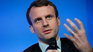 Le ministre de l'Economie, Emmanuel Macron, le 14 mars 2016 à Paris. (THIBAULT CAMUS / AP / SIPA)