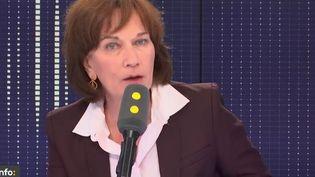 Laurence Rossignol, sénatrice PS, réélue dimanche,invitée de franceinfo le lundi 25 septembre. (RADIO FRANCE / FRANCEINFO)