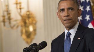 Le président américain Barack Obama, le 7 août 2014, à Washington (Etats-Unis). (SAUL LOEB / AFP)