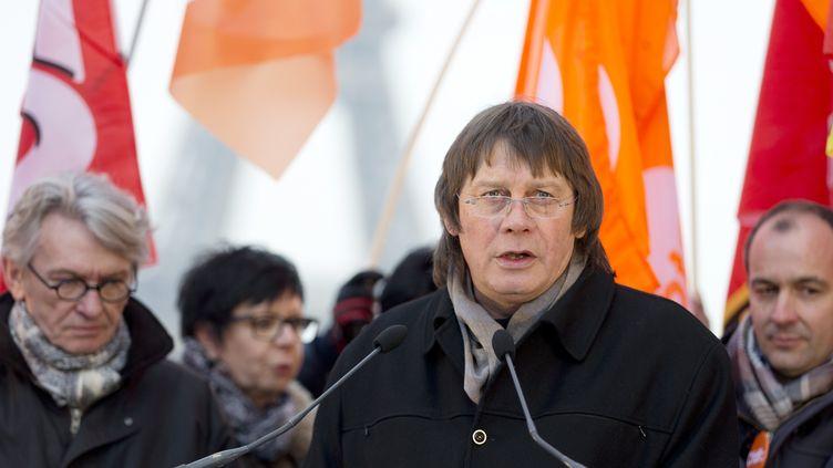 L'ancien secrétaire général de la CGT, Bernard Thibault, à Paris, le 18 février 2015. (AFP)
