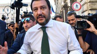 Le ministre de l'Intérieur, Matteo Salvini, le 1er juin 2018. (ANDREAS SOLARO / AFP)