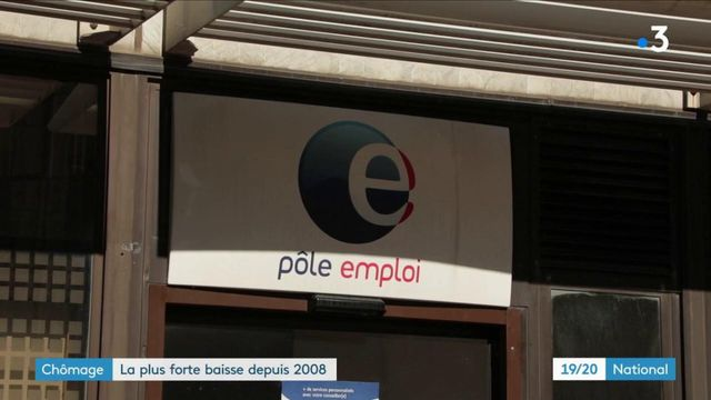 Chômage : la plus forte baisse en France depuis 2008