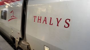 Un train Thalys, le 22 août 2015. (NICOLAS MAETERLINCK / BELGA MAG / AFP)