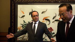 François Hollande, le 2 novembre 2015 à Chongqing (Chine). (JOHANNES EISELE / AFP)