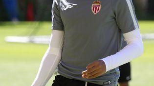 Kylian Mbappé lors d'un entraînement à Monaco, le 8 mai 2017. (VALERY HACHE / AFP)
