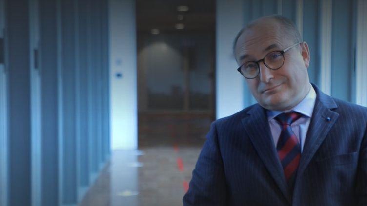 Franck Galland, chercheur et auteur de l'ouvrage Guerre et eau. (CAPTURE ECRAN / FRANCEINFO)