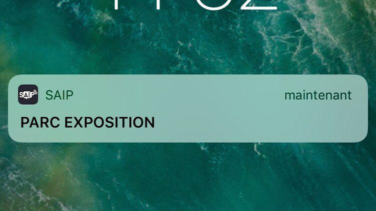 Capture d'écran de l'alerte SAIP, le 12 décembre 2017. (TWITTER.COM)