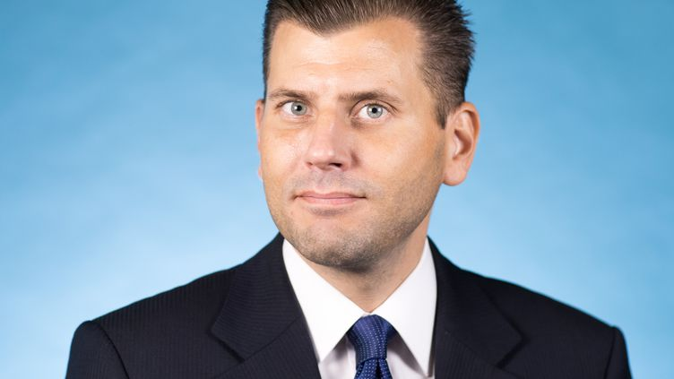 Christian Lüth, porte-parole du groupe parlementaie de l'AfD, le 5 octobre 2017, au Bundestag à Berlin (Allemagne). (MICHAEL KAPPELER / DPA / AFP)