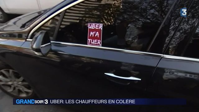 Uber : les chauffeurs de VTC en colère