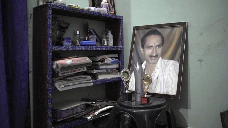 Audomicile de Jagendra Singh, journaliste indien retrouvé brûlé vif en 2015. (FORBIDDEN STORIES)