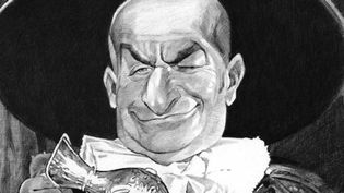 Louis de Funès caricaturé par Charles Da Costa (EDITIONS JUNGLE)