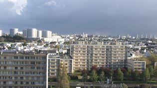 Quartier de Bellevue, Treornou, Lambezellec, Pontanezen à Brest. (Illustration) (EUGENE LE DROFF / MAXPPP)