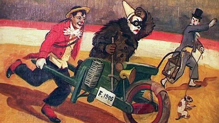 Cirque Medrano (détail). Peinture, 1905/10, de Joseph B.B. Faverot - Collection Dr. Frére, Paris, Musée du Cirque. (F. Cerulli / France Télévisions)