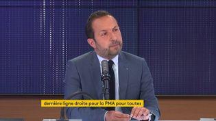 Sébastien Chenu, le porte-parole du Rassemblement national, était l'invité du 8h30 franceinfo mardi 8 juin 2021. (FRANCEINFO / RADIOFRANCE)
