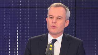 François de Rugy, ministre de la Transition écologique et solidaire, invité de franceinfo, le 15 février 2019. (FRANCEINFO / RADIOFRANCE)