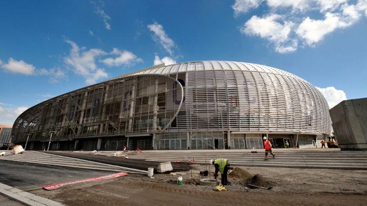 Le nouveau stade de Lille se prépare à l'inauguration (PHILIPPE HUGUEN / AFP)