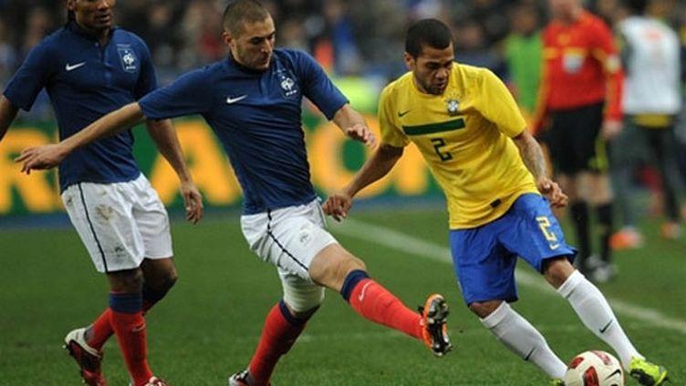 Karim Benzema et Florent Malouda à l'assaut des Brésiliens